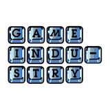 Color vintage game industry emblem Royalty Free Stock Photos