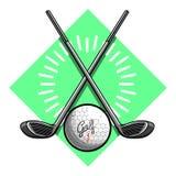 Color vintage golf emblems Stock Photography