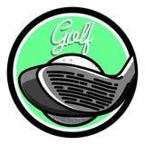 Color vintage golf emblems Stock Image