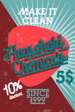 Color vintage household chemicals banner Stock Photo