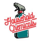 Color vintage household chemicals emblem Stock Image