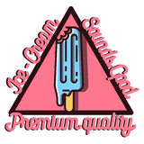Color vintage Ice Cream emblem Royalty Free Stock Images