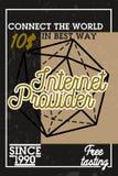 Color vintage internet provider banner Royalty Free Stock Photo