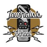 Color vintage journalists school emblem Royalty Free Stock Photo