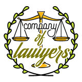 Color vintage lawyer emblem Royalty Free Stock Photos