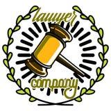 Color vintage lawyer emblem Stock Image