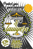 Color vintage lawyer poster Royalty Free Stock Photos