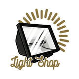 Color vintage light shop emblem Stock Image