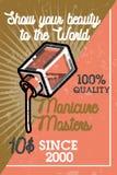 Color vintage manicure banner Stock Image