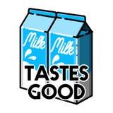 Color vintage milk emblem Stock Photography