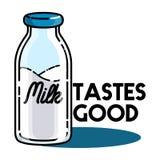 Color vintage milk emblem Royalty Free Stock Photos