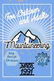 Color vintage mountaineering poster Royalty Free Stock Photo
