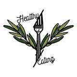 Color vintage nutritionist emblem Stock Image