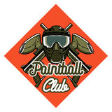 Color vintage paintball emblem Royalty Free Stock Photo