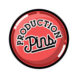 Color vintage pins production emblem Royalty Free Stock Image