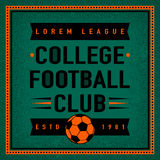 Color vintage and retro logo badge, label college football  Royalty Free Stock Photography