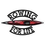 Color vintage rowing emblem Stock Image