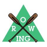 Color vintage rowing emblem Royalty Free Stock Images