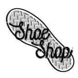Color vintage shoe shop emblem Royalty Free Stock Photo