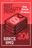 Color vintage silkskreen print banner. Vector illustration, EPS 10 Royalty Free Stock Photography
