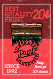 Color vintage silkskreen print banner. Vector illustration, EPS 10 Stock Photo