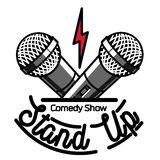 Color vintage Stand up comedy show emblem Stock Photography