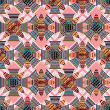 Color vintage style symmetry seamless pattern Stock Image