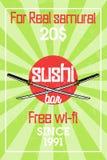 Color vintage sushi bar banner. Sushi Bar. Vector illustration, EPS 10 Royalty Free Stock Photos
