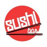 Color vintage sushi bar emblem. Color vintage sushi emblem. Sushi Bar. Vector illustration, EPS 10 Royalty Free Stock Photography