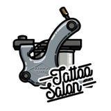 Color vintage tattoo salon emblem. Vector illustration, EPS 10 Stock Photo