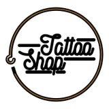 Color vintage tattoo shop emblem. Vector illustration, EPS 10 Stock Image