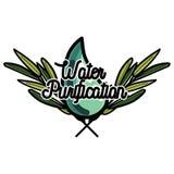 Color vintage water purification emblem Stock Photos