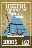 Color vintage wind power banner Royalty Free Stock Images