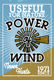 Color vintage wind power banner Royalty Free Stock Image