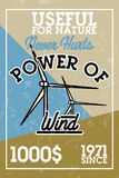 Color vintage wind power banner Royalty Free Stock Photography