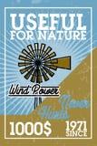 Color vintage wind power banner Stock Image