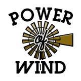 Color vintage wind power emblem Stock Photography