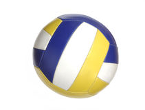 Color volleyball ball. Isolated on white Stock Photos