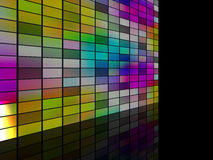 Color wall. 3d generated render of color wall Stock Photos