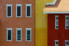 Color on the wall. A color on the building is contrast Royalty Free Stock Image