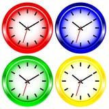 Color Wall Clock vector illustration