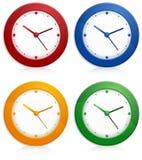 Color wall clocks Royalty Free Stock Photos