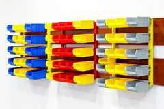 Color wall shelf Royalty Free Stock Photo