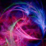 Color war. Through color war chaos abstract art on black background Royalty Free Stock Photos