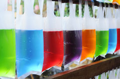 Color water bags Stock Photography