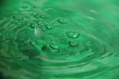 The color of the water. Beautiful water play emerald color Royalty Free Stock Photo