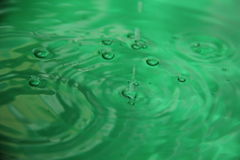 The color of the water. Beautiful water play emerald color Stock Image