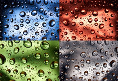 Color water droplets Stock Photos