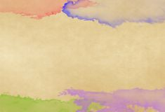 Color water on old paper Royalty Free Stock Photo