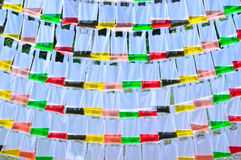 Color water in the translucent plastic bag Royalty Free Stock Photos